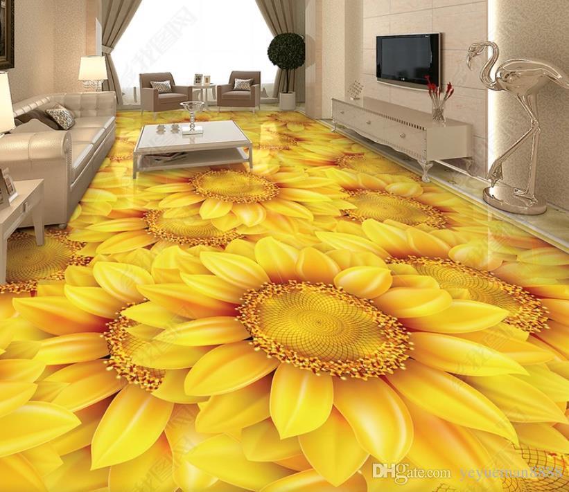 customize wallpaper floor wallpaper for living room self adhesive wallpaper 3d flooring decoration