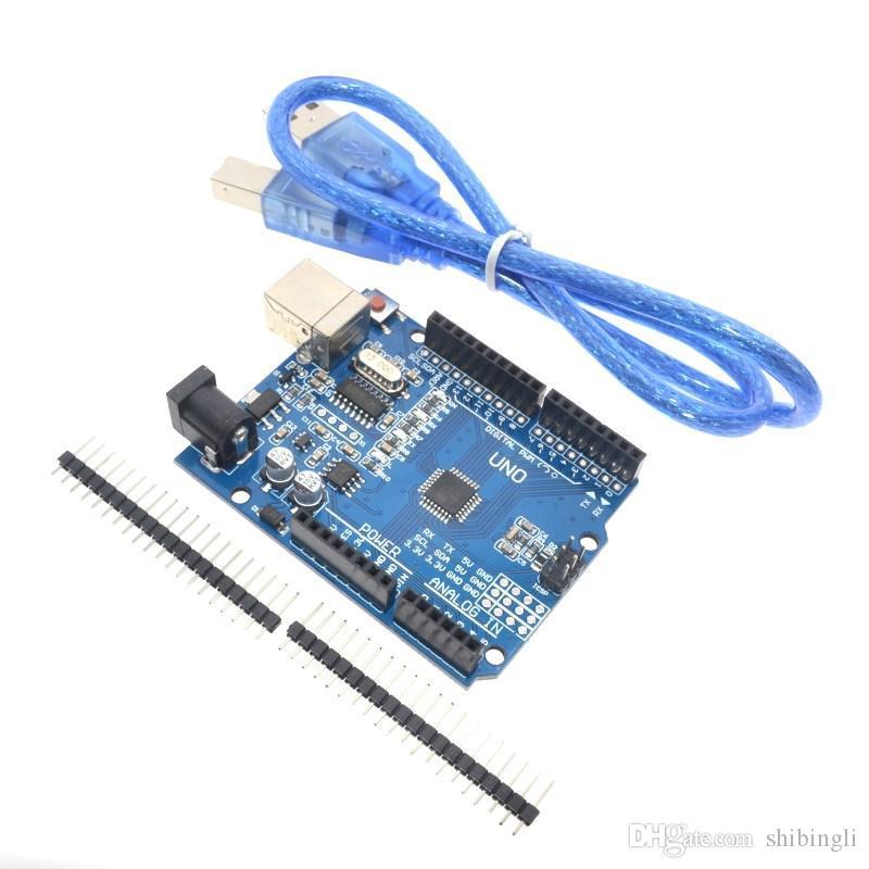 UNO R3 (CH340G) MEGA328P لمجلس اردوينو UNO R3 + USB CABLE ATMEGA328P-AU التنمية