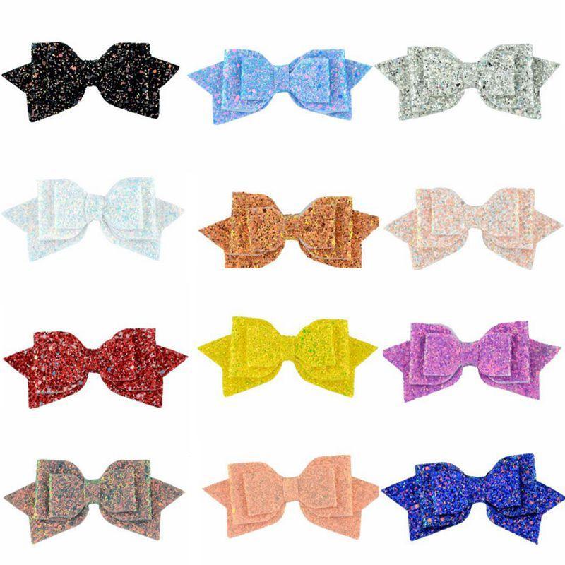 Lantejoulas Bow Hairclips meninas Big Glitter Bow arcos de cabelo Barrette Hairgrip Hairpin Headwrap Boutique Vintage Acessórios de cabelo 15 Projeto C6338
