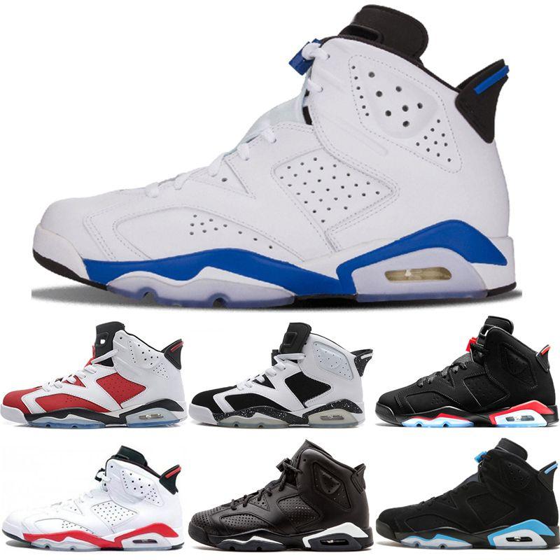 6s gros Sport Bleu Hommes Chaussures de basket-6 Black Cat infrarouge Reflect hommes Carmine UNC chat noir formateurs sport chaussures de sport