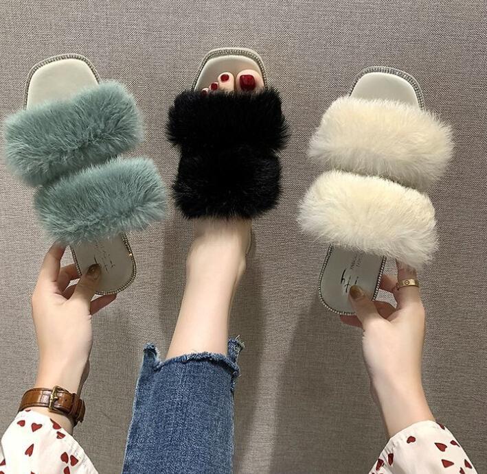 Heißer Verkauf- Herbst und Sommer neue koreanische Version des wilden Strass quadratischen Kopf ein Wort trägt Sandale wholesa