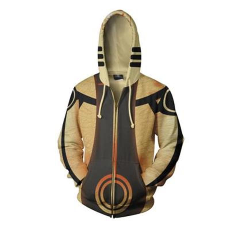 Malidaike Naruto 코스프레 UCHI 3D 인쇄 지퍼 후드 웜 스웨터 선물 크리스마스