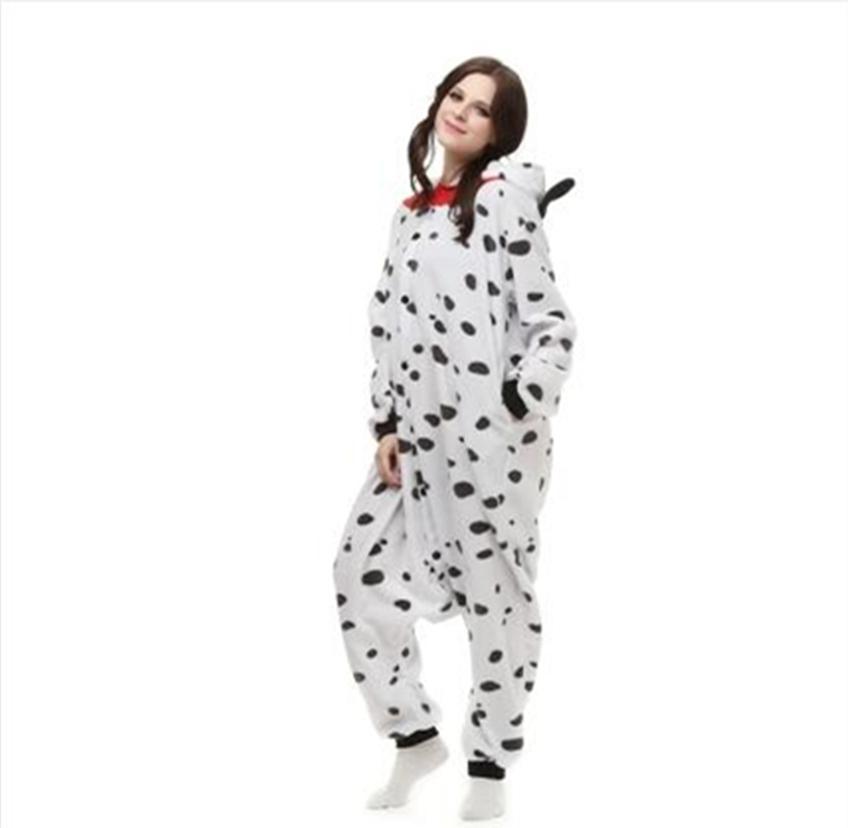 Cão Adulto Hot Pijama Onesie, Adulto animal Pijamas partido Dálmatas Trajes Hoodie Anime pijama para meninas dos meninos