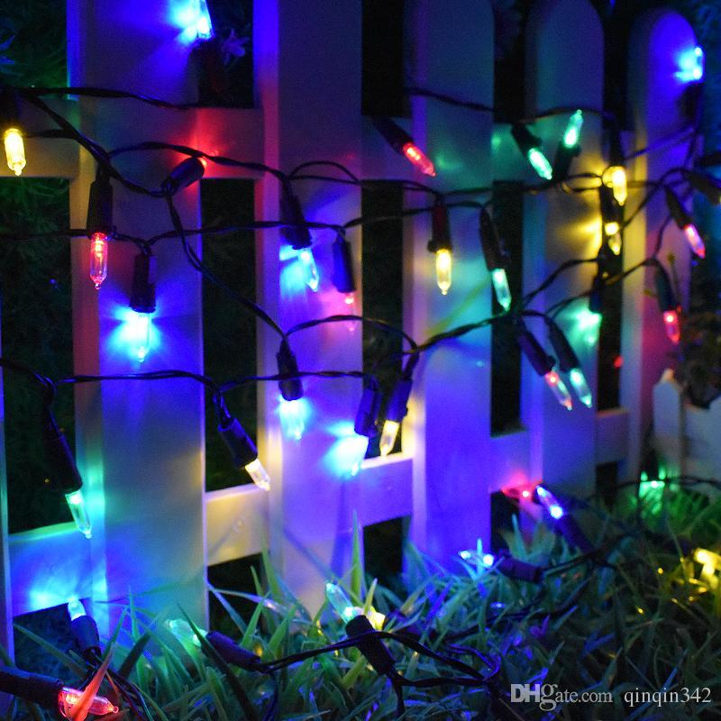 7M//50 LED Water Drop Solar Powered Retro String Lights XMAS Garden Outdoor Lamps
