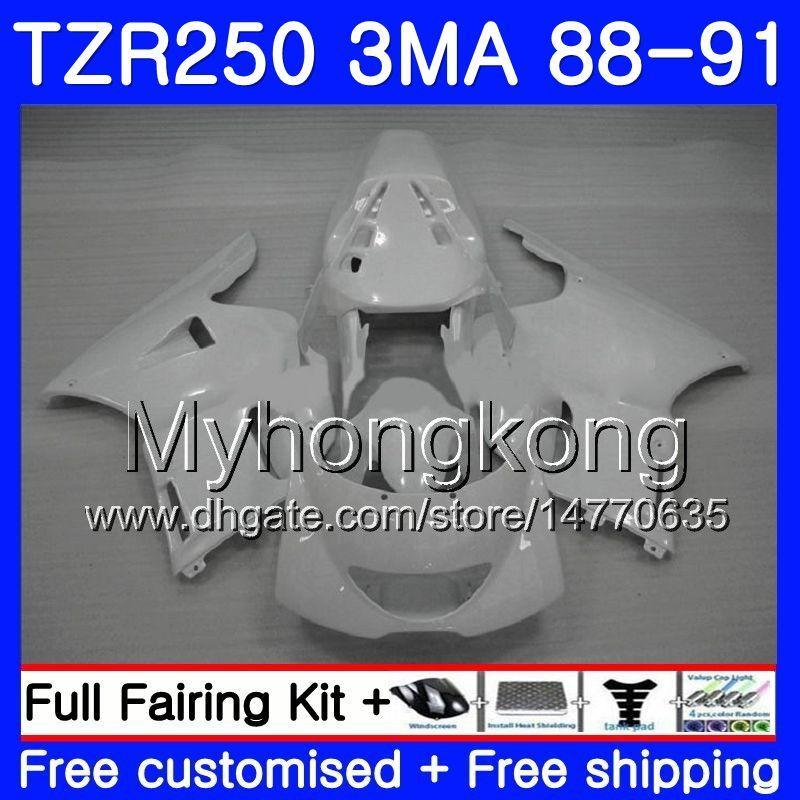 Комплект для YAMAHA Gloss white все TZR250RR TZR-250 TZR 250 88 89 90 91 корпус 244HM.43 TZR250 RS RR YPVS 3MA TZR250 1988 1989 1990 1991 обтекатель