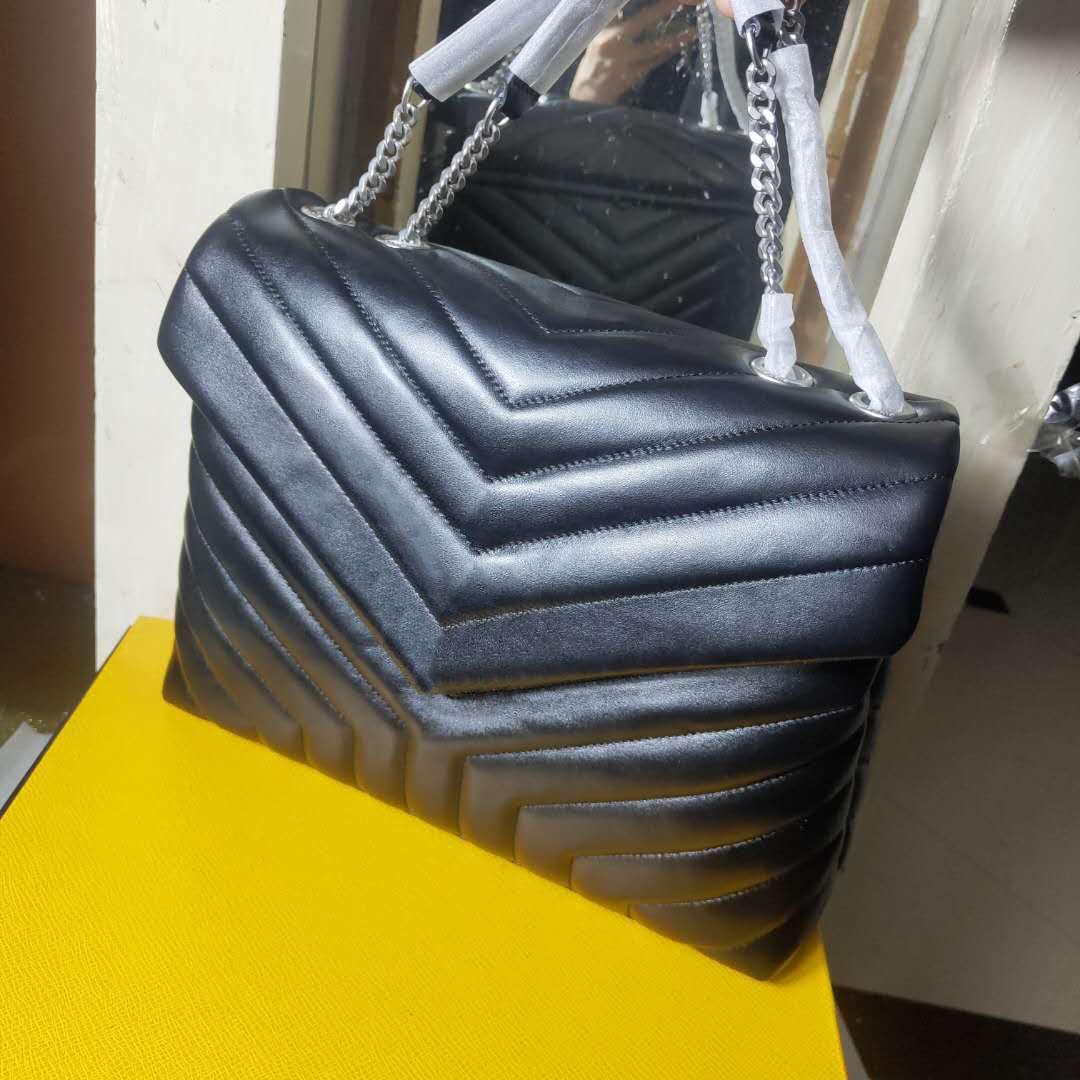 2020 bolsa de los bolsos del diseñador mujeres del estilo crossbody de lujo bolsas de hombro de la manera cadena Europ suave verdadero Bolso de cuero damas bolsos