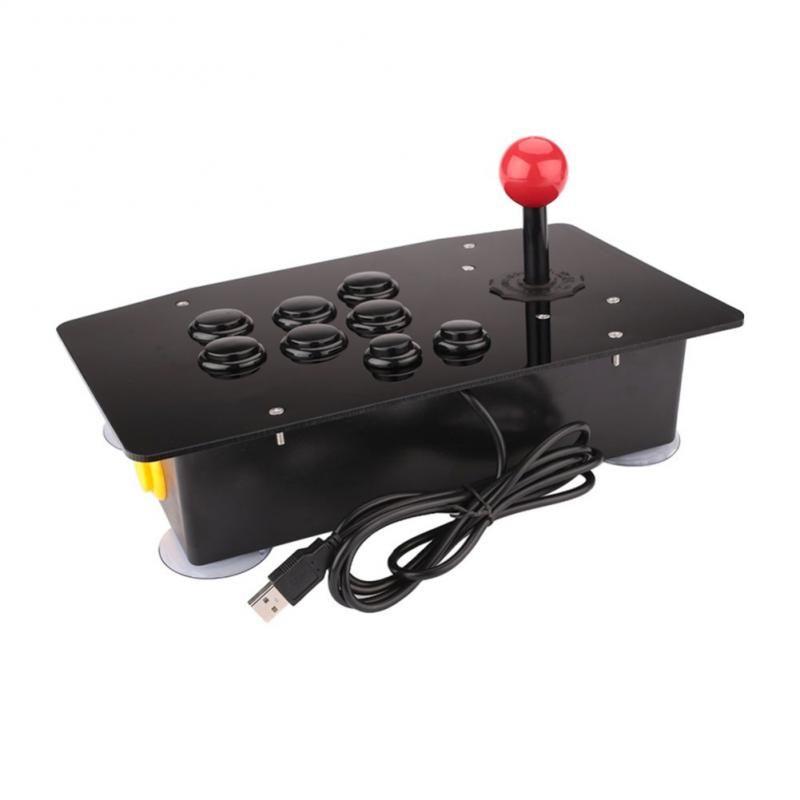 2019 Neu Arcade Joystick 10 Tasten USB Fighting Stick Joystick-Gaming-Controller Gamepad Videospiel für PC-Konsolen