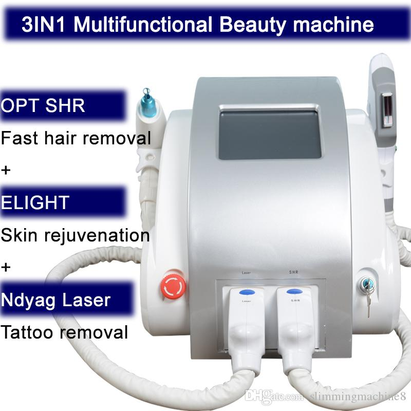 Multifunction OPT Elight SHR IPL Super laser Hair Removal Q Switch Nd Yag Laser Tattoo Removal RF Skin Rejuvenation Machine