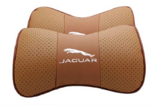 Misura per Jaguar Car 2 pezzi in vera pelle seggiolino auto cuscino del collo cuscino poggiatesta auto