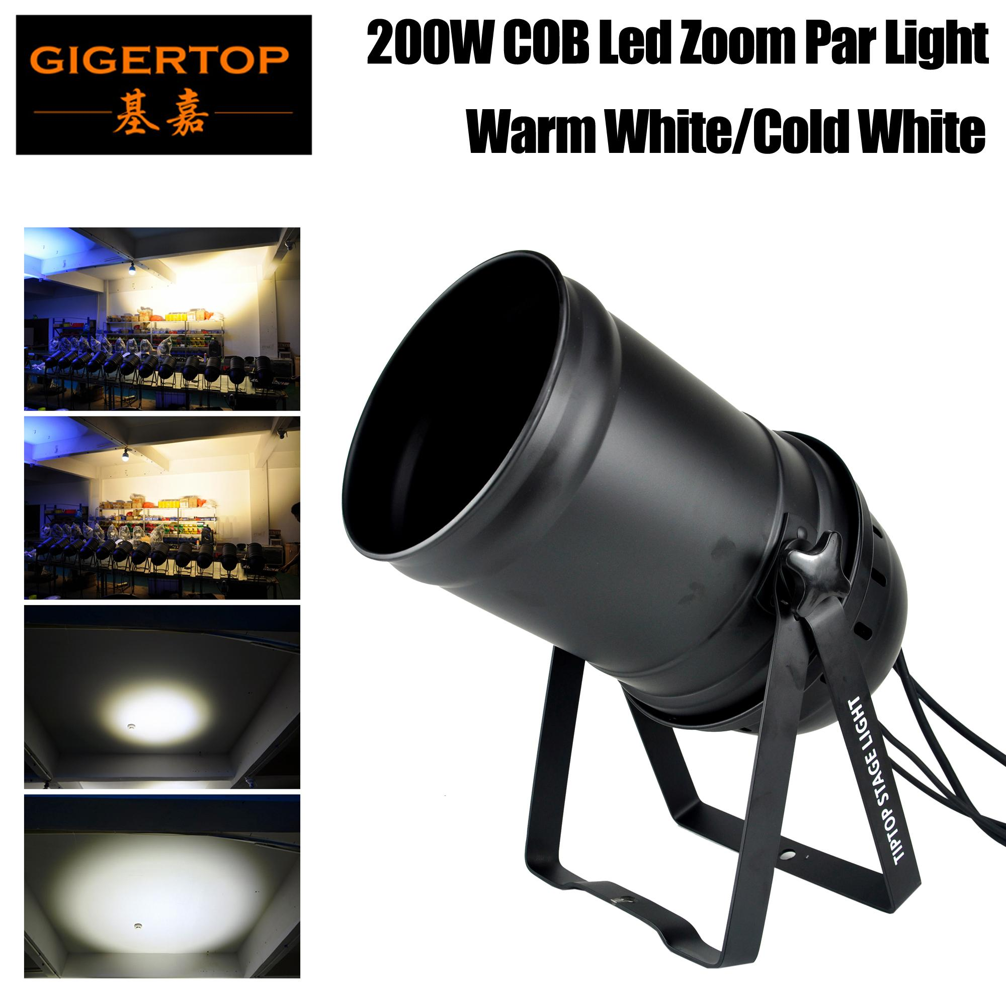 TIPTOP Stage Light 200W COB witte kleur LED Zoom Par Light Indoor LED Zoom Stage Light PAR CANS DMX-512 Verlichting Laser Projector Party