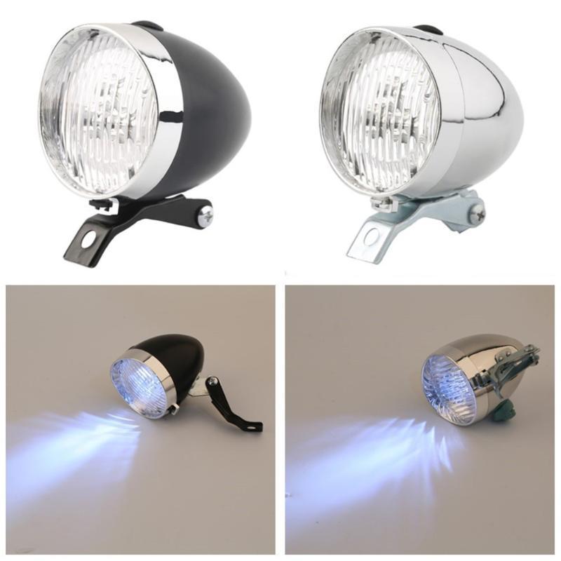 Retro para bicicleta 3 LED de luz de la lámpara del faro delantero de la vendimia de la bicicleta de la linterna con el soporte de Dropshipping