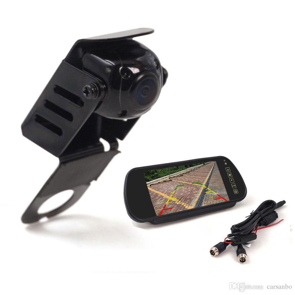 Auto luce di freno della macchina fotografica di sostegno macchina fotografica di retrovisione di parcheggio in retromarcia fotocamera impermeabile per vito Con monitor specchietto retrovisore 7 pollici opzionale