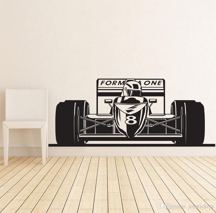 Formula 1 Sport Race Car Racing Wall Decal Vinyl Poster Decor Sticker Art Mural Home House Decoration Accessories DIY Kid
