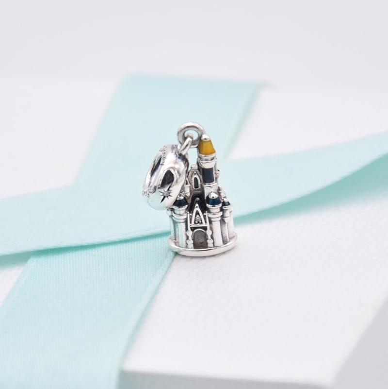 Nueva pulsera de encanto de castillo Fit Original pulsera de Pandora DIY plata de ley 925 regalo de encanto