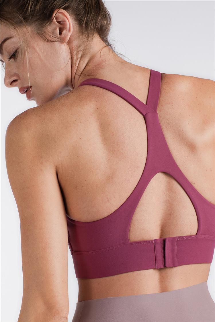 2020 Womens Designer Yoga Sports Bra com oco Buckles à prova de choque Yoga Bra Mulheres Moda Roupa de alças 5 cores