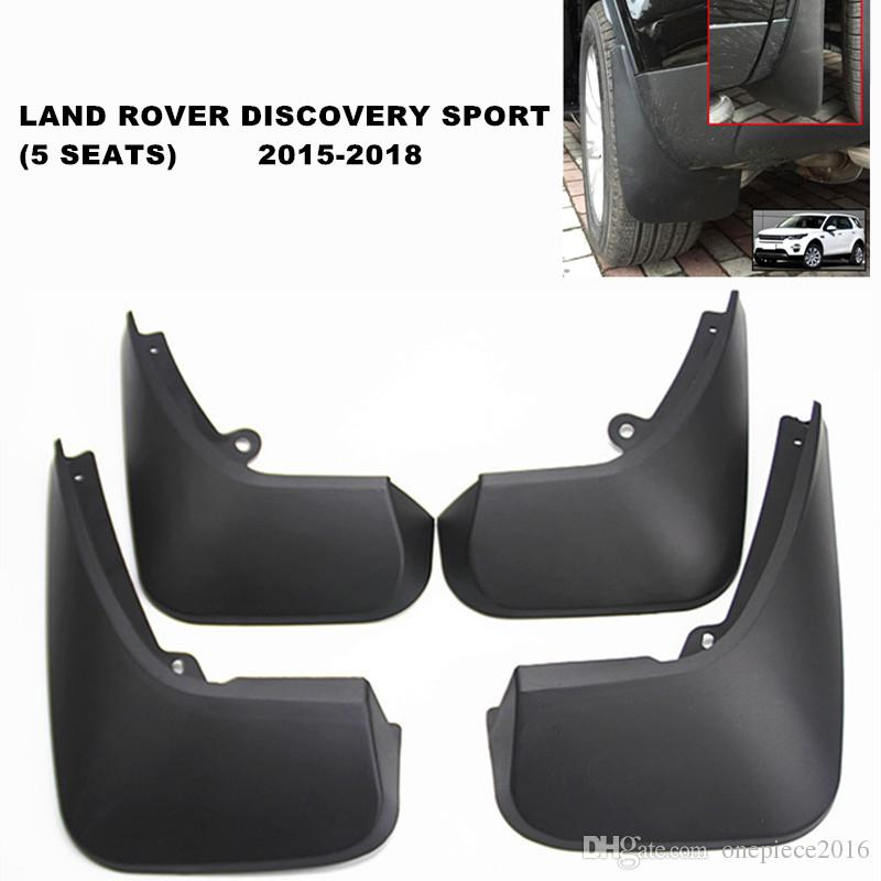 Black 4Pcs Front and Rear Car Mud Flaps Splash Guard Fender Mud Guards Mudguard Mudflaps for Discovery Sport 5-Seater 2015 2016 2017 2018 2019 2020