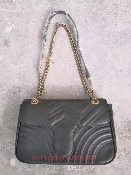 Frau Umhängetaschen PU-Leder Mode Kette Tasche Kreuzkörper Reine Farbe Weibliche Frauen Handtasche Top Qualität