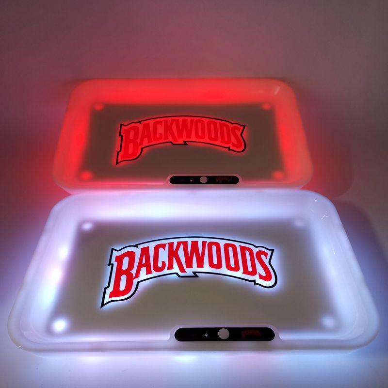 불모지 롤링 트레이 발광 담배 트레이 6 색 LED 라이트 Glowtray의 1800MAH 내장 쿠키 대 배터리 급속 충전 Runtz 선물 상자