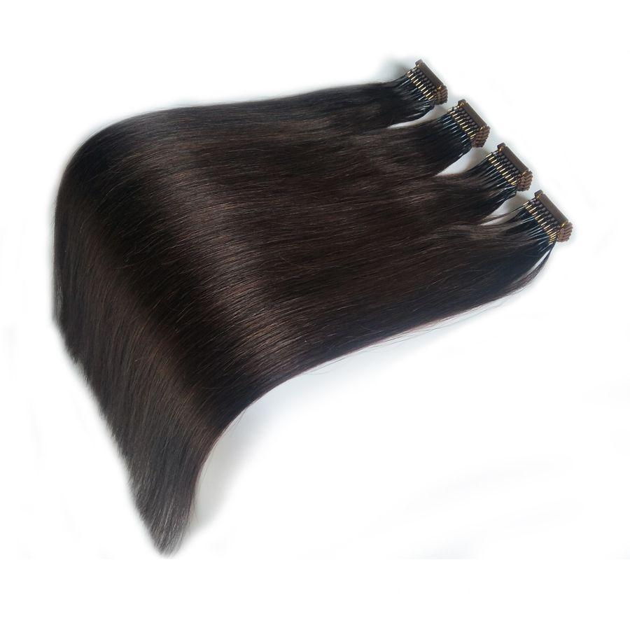 2019 Nouveaux Extensions de Cheveux 6D-1 Couleur Naturelle Soyeux Droite Invisible Double Tiré Connexion Haut de Gamme Technologie Extension de Cheveux Humains Pas Cher