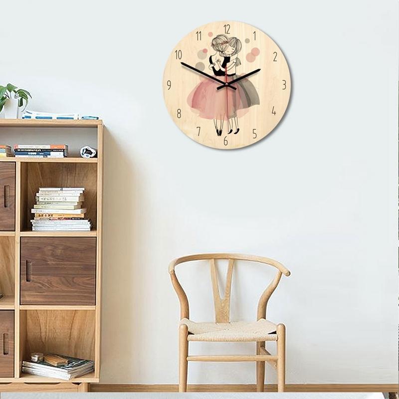 Karikatür yaratıcı duvar saati, modern minimalist oturma odası yaratıcı saat sanat saat prenses Bölüm C Duvar Saatleri