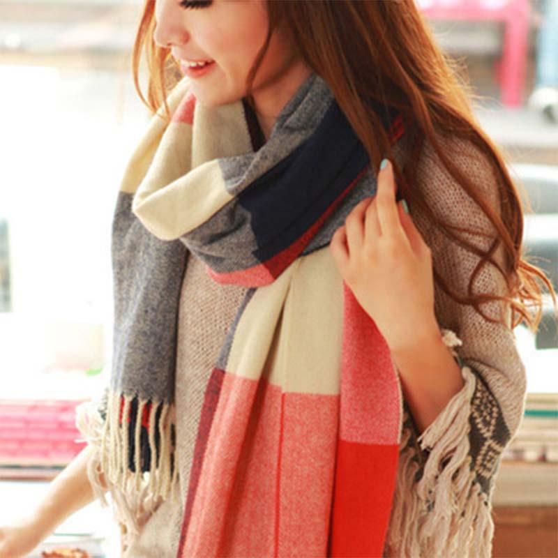 Nuevo 2019 mujeres bufanda del invierno para las mujeres de la bufanda y envío Mantón caliente Mujer tela escocesa mantón de las bufandas echarpe gota
