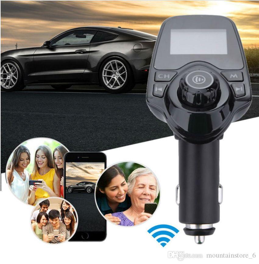 Bluetooth Wireless Car MP3-Player Freisprecheinrichtung Car Kit FM-Sender A2DP 5V 2.1A USB-Ladegerät LCD-Anzeige Auto FM-Modulator