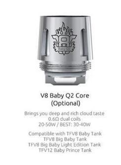 Smok V8 bebé Q2 bobina 0.4ohm reemplazo Core para Smok Vape TFV8 Big Baby / TFV12 bebé Príncipe tanque 100% US bobinas original Smok Vape almacén