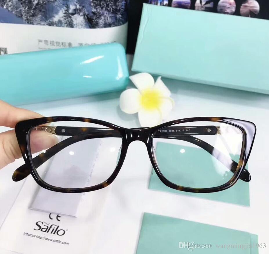 Nuovi occhiali Telaio TF2104 Plank Plank Plame Brain Frame Ripristino antico modi Oculos de Grau Uomini e donne Myopia Eye Glass Blacks