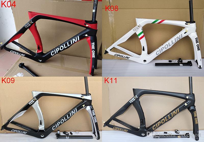 2019 الكربون الطريق الإطار Cipollini RB1K الكربون الإطار واحد RB1000 T1000 ألياف الكربون الطريق دراجة دراجة إطارات