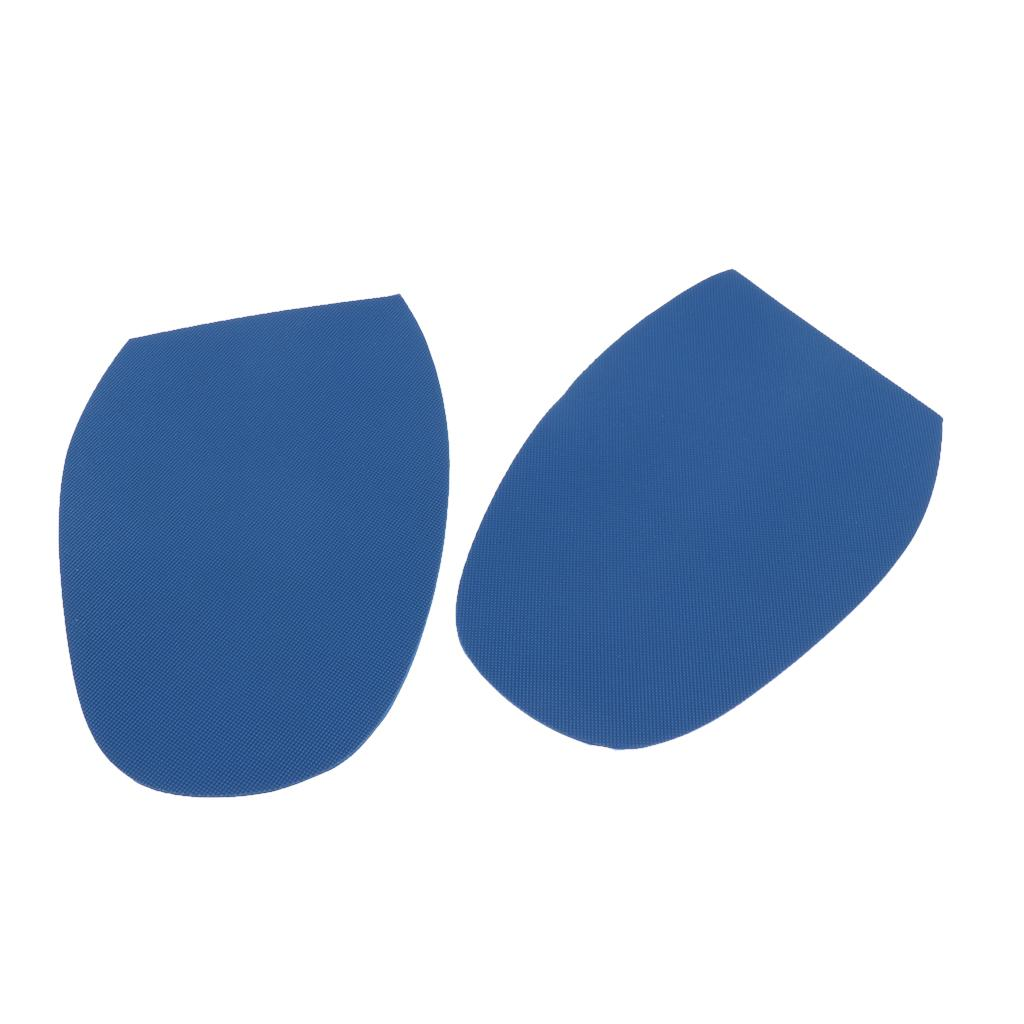2Pieces fai da te Stick su suole, tallone Calzolai Anti Slip impugnatura in gomma-Calzature Pad Protezioni autoadesive Pad Mats