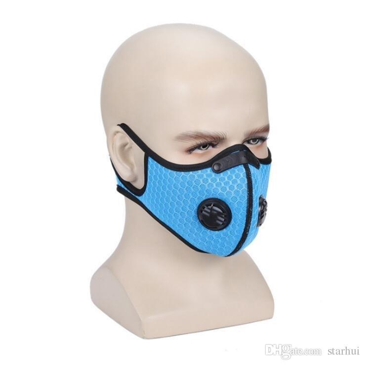 Máscara New Outdoor Ciclismo de proteção com filtro de carbono ativado PM2.5 anti-poeira do esporte que funciona Training Road Bike Cycling Máscara XHH9-3024