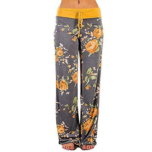 Kadın Rahat Rahat pijama pantolon İpli Lounge Geniş Bacak Boho Baghee Harem hippi kadın Yoga Palazzo Plajı Pantolon Pantolon yazdır Çiçek
