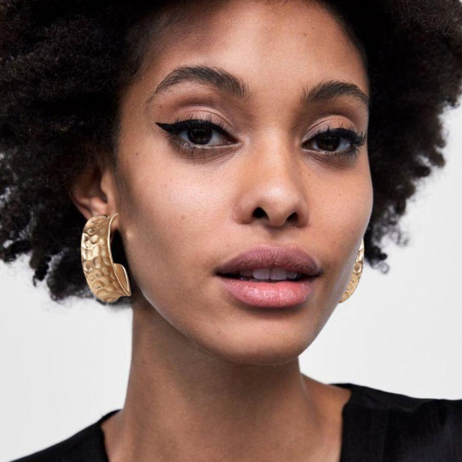 2020 Fashion Boucles d'oreilles Femme punk Huggie boucles d'oreilles Hip Hop Party Boucles d'oreilles en or Cercle Faveur