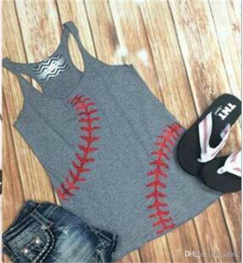سيدة البيسبول البيسبول أكمام تي شيرت الصدرية المرأة ملابس الصيف Underwaist 2020 نمط جديد 17ar UU