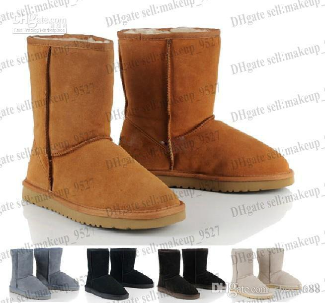 Low price Classic short WGG5825 style Womens snow boots Winter Fashion style Warm stable With certificate dust bag
