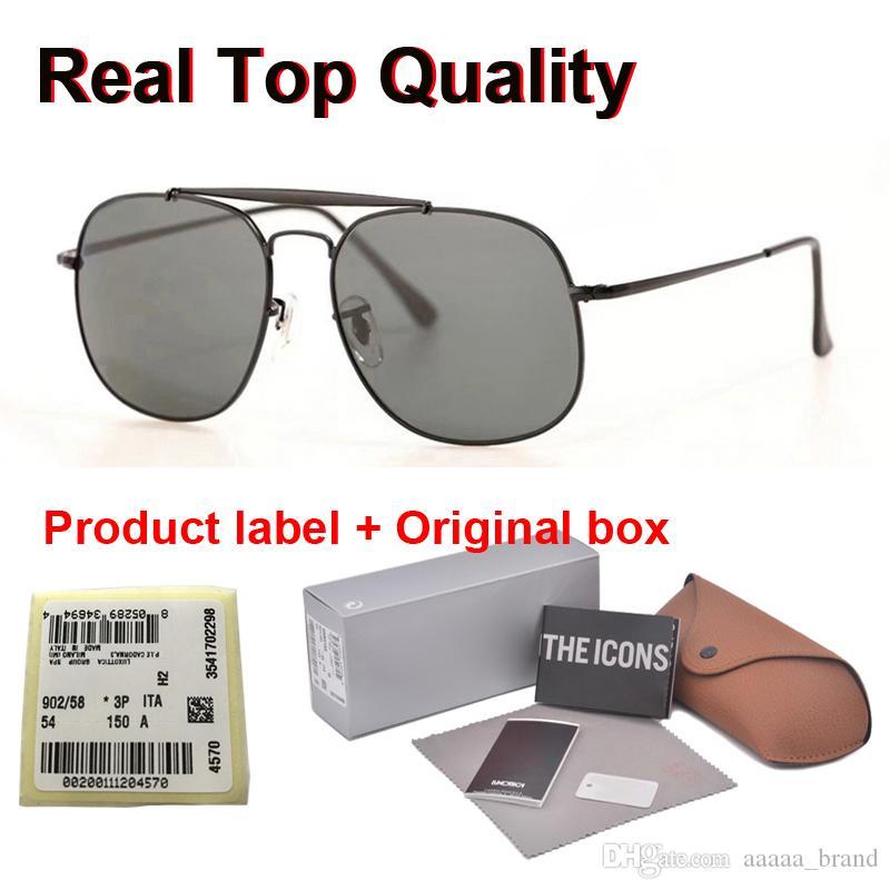 En kaliteli Güneş Erkekler Kadınlar Marka Tasarımcı Metal Çerçeve cam Lensler Spor Sürüş serbest vaka ve etiket ile UV400 Goggle gözlük