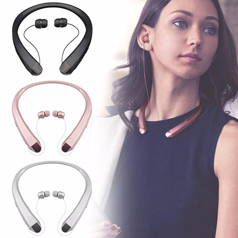 HI-FI inalámbrico Bluetooth para auriculares en la oreja Deporte estéreo Bluetooth botón de los auriculares que cuelgan del cuello de auriculares para el iPhone Samsung Huawei