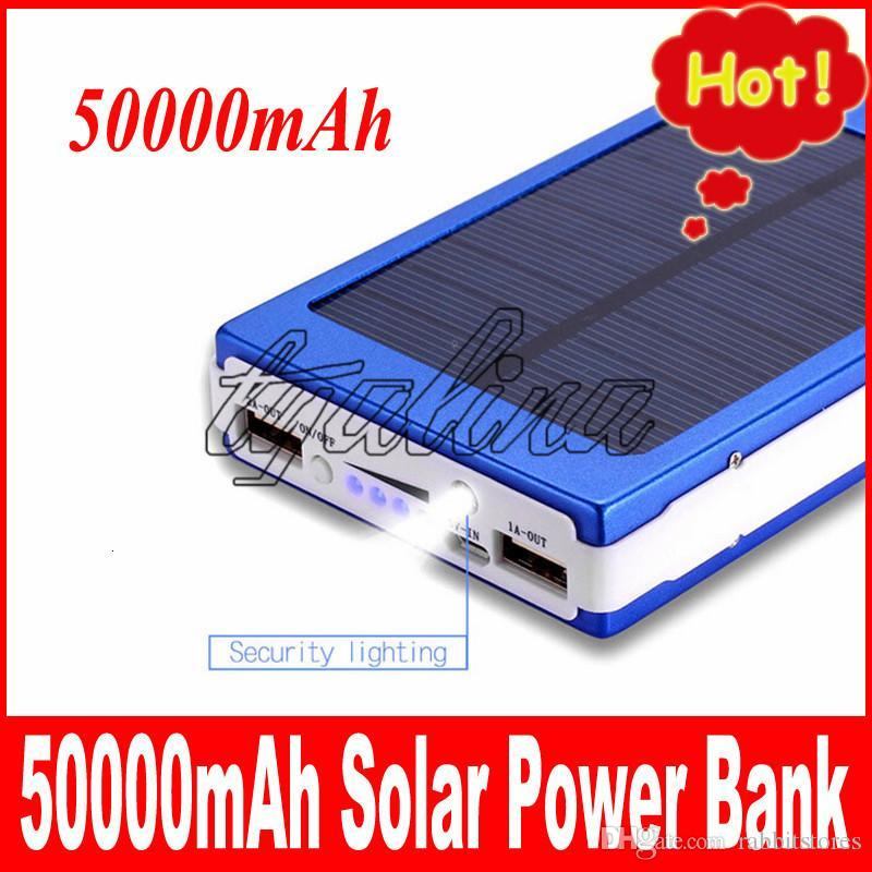 E Quality Hot Sale High 50000mah Solar Power Bank Backup Battery 50000 Mah Solar Charger For Gps Mp3 Ipad Mobile Phone Free Shipping