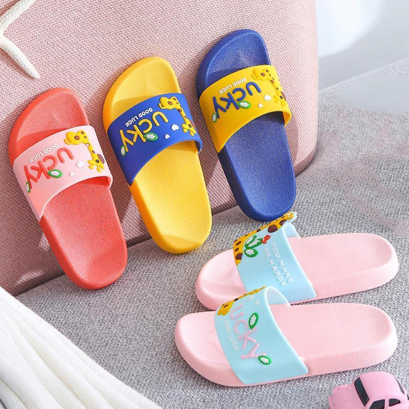 Non Slip Summer Baby Slippers Beach Slides Comfy Toddler Shoes Giraffe Cartoon