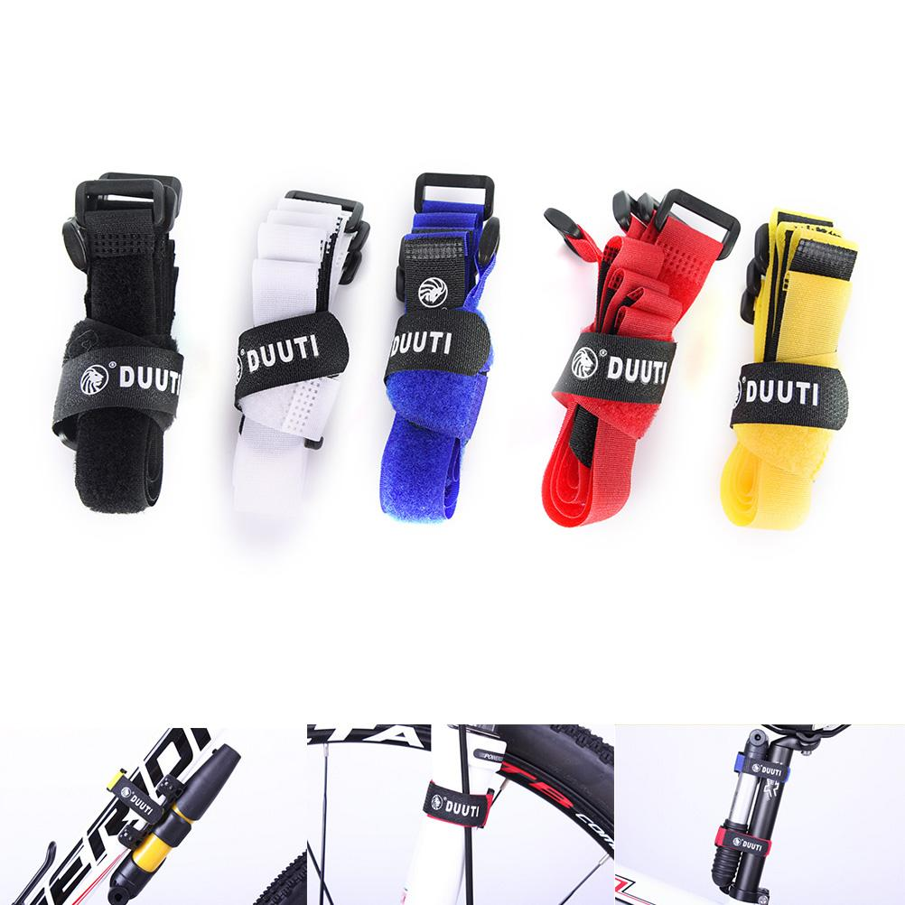 1Pc New Sale Cable Tie Nylon Strap Power Wire Management Magic Tape Sticks Bike Bicycle Pump Holder Ties Fixed 5 Colors