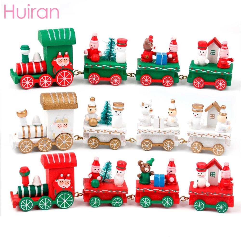 Huiran 1pc Holz-Zug-Spielzeug, Dekoration, Frohe Weihnachten, Dekoration für Heim Chrisrmas Geschenke für Kid Frohes Neues Jahr 2019 Kid Bevorzugungen