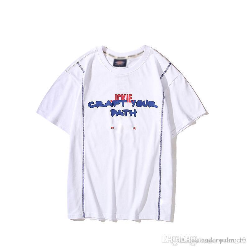 2020 été nouvelle arrivée collaboration co-brandée concepteur de marque oser faire à manches courtes T-shirt rétro hommes T-shirt couple imprimé et Wome