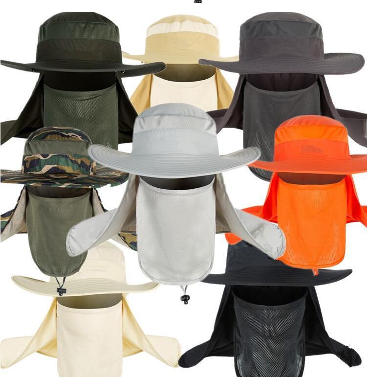 للجنسين في الهواء الطلق تنفس UV الصيد هات التنزه الرياضة في حماية الوجه الرقبة غطاء رفرف قناع شمس الصيف كاب كاب على نطاق واسع