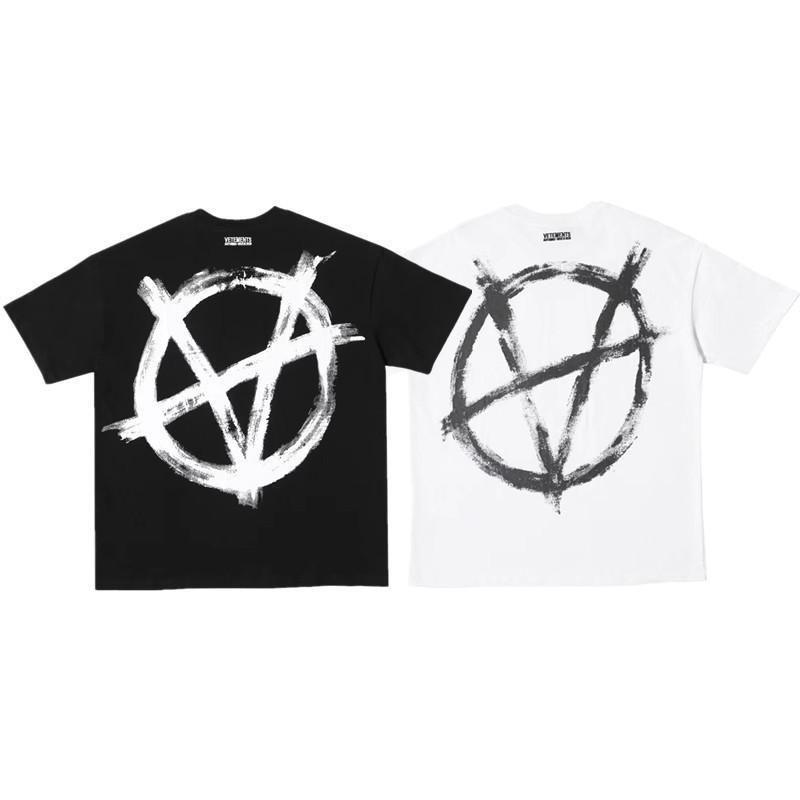 Kadınlar Erkek Tasarımcı T Gömlek Vetements 2020 Yeni Anti Savaşı Serisi Logo Baskı Moda Marka Gevşek Kısa Kollu Pamuk Casual Mürettebat Boyun
