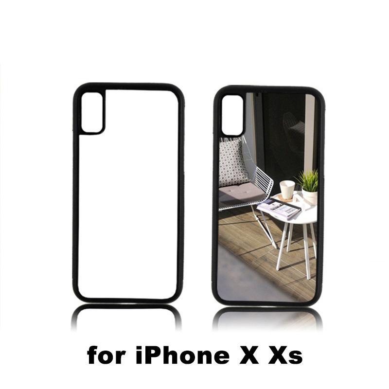 Hohe qualität neue ankunft quadratisches loch 2d sublimation rückseite telefon case für iphone xs max xr wärmeübertragung tpu hartplastik telefon abdeckung