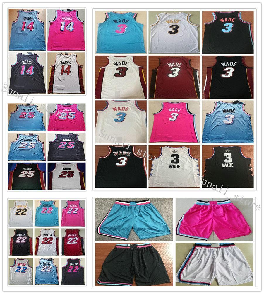 Cosidas Hombres Jersey Tyler Herro 14 22 Jimmy Kendrick Nunn 25 Mayordomo camisetas de baloncesto de la universidad camisas 2019 nuevo estilo Dwyane Wade 3