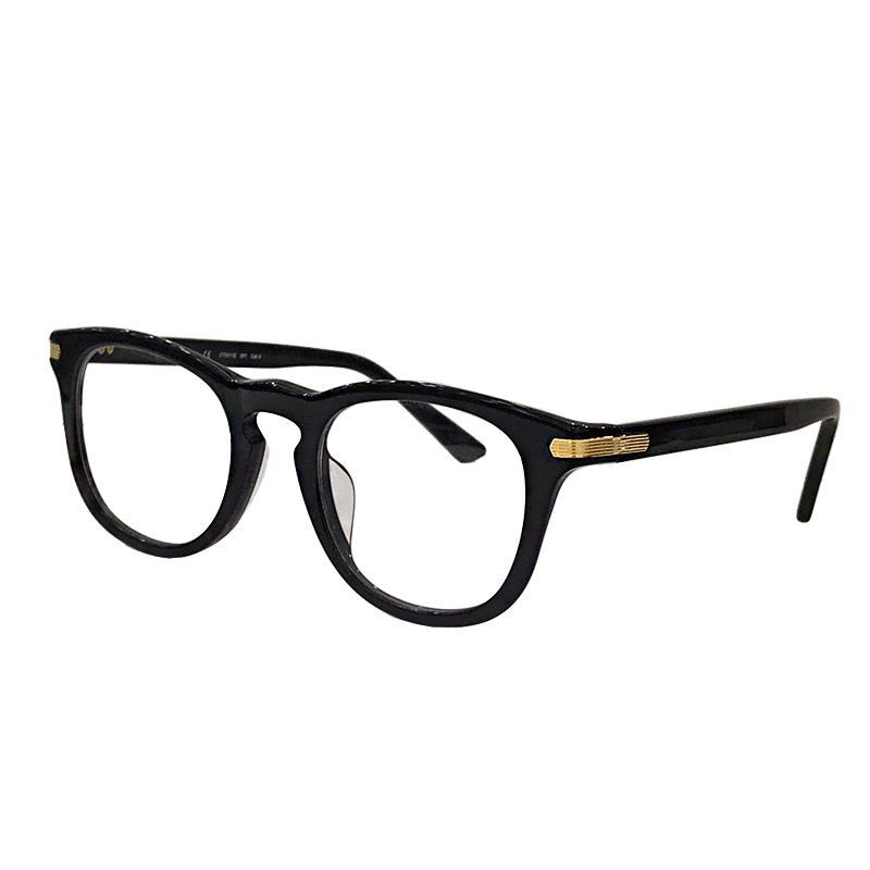 New Fashion Designer Optical Glasses 0011 Sheet Simples Estrutura Estilo Popular Retro lente transparente pode ser Prescription Lens Transparente
