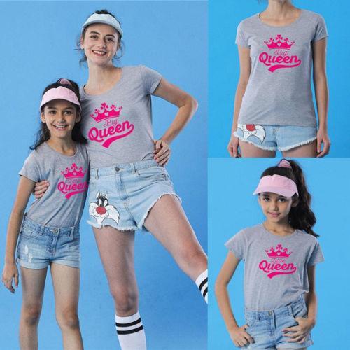 Aile Kıyafetler Çocuk Bebek Kız Bayan Anne kızı Aile Eşleştirme T Gömlek Giyim Tee Tops Eşleştirme