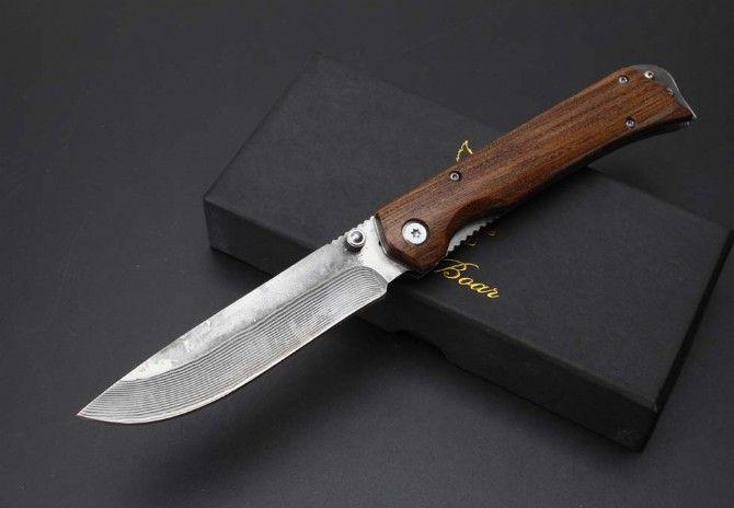 jabalí Busse hoja del cuchillo de caza de Damasco salvaje que acampan tácticos cuchillo cuchillos cuchillo de navidad regalo para hombre 1pcs ADNB
