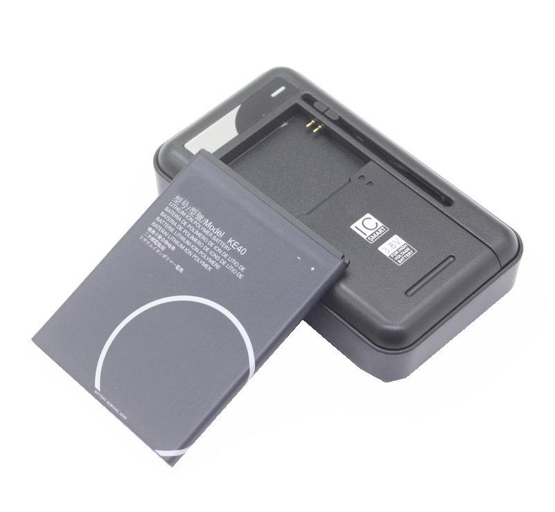 1x 3000mAh 11.4Wh KE40 sostituzione della batteria + caricabatteria universale per Motorola MOTO KE40 intelligenti Batterie per cellulari
